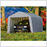 12x24x8 ShelterCoat Peak Style Shelter (Gray Cover)
