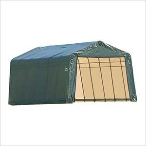 12x24x8 ShelterCoat Peak Style Shelter (Green Cover)