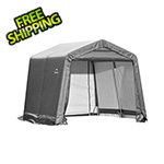 ShelterLogic 10x8x8 ShelterCoat Peak Style Shelter (Gray Cover)