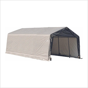 13x20x10 ShelterCoat Peak Style Shelter (Gray Cover)