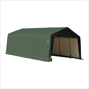 13x20x10 ShelterCoat Peak Style Shelter (Green Cover)