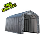 ShelterLogic 15x28x12 ShelterCoat Peak Style Shelter (Gray Cover)