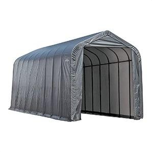 15x28x12 Sheltercoat Peak Style Shelter (gray Cover)