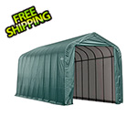 ShelterLogic 15x28x12 ShelterCoat Peak Style Shelter (Green Cover)