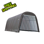 ShelterLogic 12x28x8 ShelterCoat Round Style Shelter (Gray Cover)