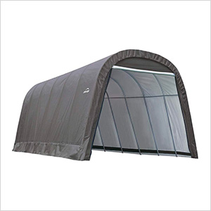 12x28x8 ShelterCoat Round Style Shelter (Gray Cover)