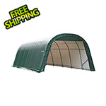 ShelterLogic 12x28x8 ShelterCoat Round Style Shelter (Green Cover)