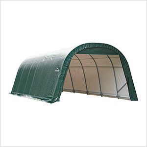 12x28x8 ShelterCoat Round Style Shelter (Green Cover)