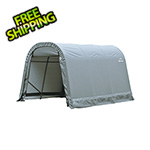 ShelterLogic 8x12x8 ShelterCoat Round Style Shelter (Gray Cover)
