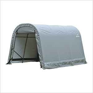 8x12x8 ShelterCoat Round Style Shelter (Gray Cover)
