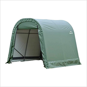 8x16x8 ShelterCoat Round Style Shelter (Green Cover)