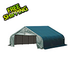 ShelterLogic 22x20x11 ShelterCoat Peak Style Shelter (Green Cover)