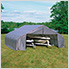 22x24x11 ShelterCoat Peak Style Shelter (Gray Cover)