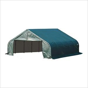 22x24x11 ShelterCoat Peak Style Shelter (Green Cover)
