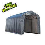 ShelterLogic 16x36x16 ShelterCoat Peak Style Shelter (Gray Cover)