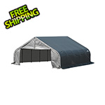 ShelterLogic 18x28x9 ShelterCoat Peak Style Shelter (Gray Cover)