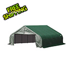 ShelterLogic 18x28x9 ShelterCoat Peak Style Shelter (Green Cover)