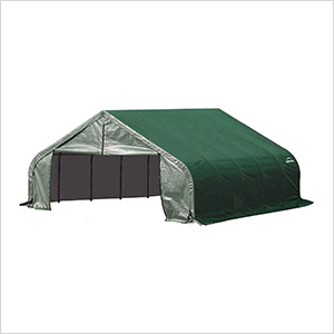 18x28x9 ShelterCoat Peak Style Shelter (Green Cover)