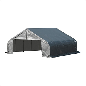 18x20x9 ShelterCoat Peak Style Shelter (Gray Cover)