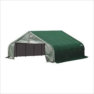 18x20x9 ShelterCoat Peak Style Shelter (Green Cover)