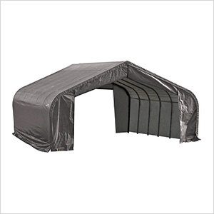 22x24x13 ShelterCoat Peak Style Shelter (Gray Cover)
