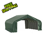 ShelterLogic 22x28x13 ShelterCoat Peak Style Shelter (Green Cover)