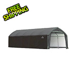 ShelterLogic 12x25x9 Accelaframe Garage (Green Cover)