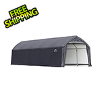 ShelterLogic 12x25x9 Accelaframe Garage (Gray Cover)