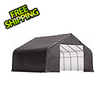 ShelterLogic 28x20x16 ShelterCoat Peak Style Shelter (Gray Cover)