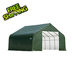 ShelterLogic 28x20x16 ShelterCoat Peak Style Shelter (Green Cover)