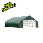 ShelterLogic 28x24x16 ShelterCoat Peak Style Shelter (Green Cover)