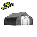 ShelterLogic 28x20x20 ShelterCoat Peak Style Shelter (Gray Cover)