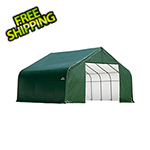 ShelterLogic 28x20x20 ShelterCoat Peak Style Shelter (Green Cover)