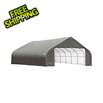 ShelterLogic 28x24x20 ShelterCoat Peak Style Shelter (Gray Cover)