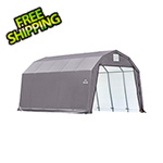 ShelterLogic 12x20x11 ShelterCoat Barn Style Shelter (Gray Cover)