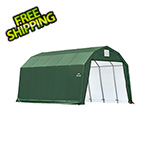 ShelterLogic 12x20x11 ShelterCoat Barn Style Shelter (Green Cover)