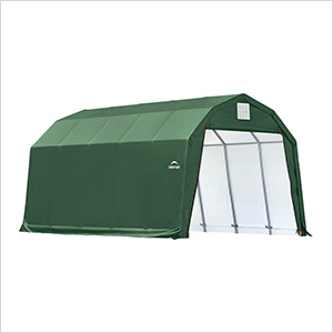 12x20x11 ShelterCoat Barn Style Shelter (Green Cover)