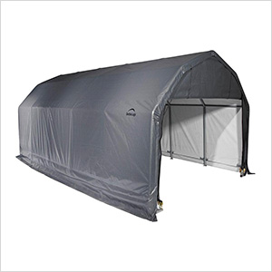 12x24x11 ShelterCoat Barn Style Shelter (Gray Cover)