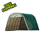 ShelterLogic 13x28x10 ShelterCoat Round Style Shelter (Green Cover)