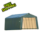 ShelterLogic 13x28x10 ShelterCoat Peak Style Shelter (Green Cover)