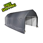 ShelterLogic 12x28x11 ShelterCoat Barn Style Shelter (Gray Cover)