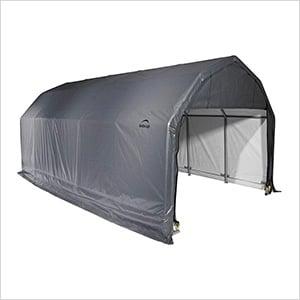 12x28x11 ShelterCoat Barn Style Shelter (Gray Cover)