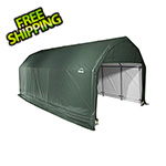 ShelterLogic 12x28x11 ShelterCoat Barn Style Shelter (Green Cover)
