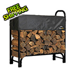 ShelterLogic 4 ft. Heavy Duty Firewood Rack with Cover