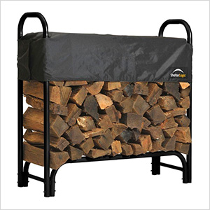 4 ft. Heavy Duty Firewood Rack with Cover