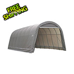 ShelterLogic 15x28x12 ShelterCoat Round Style Shelter (Gray Cover)