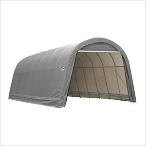 15x24x12 ShelterCoat Round Style Shelter (Gray Cover)