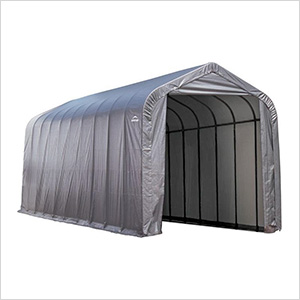 15x24x12 ShelterCoat Peak Style Shelter (Gray Cover)