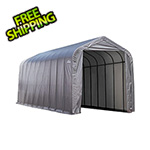 ShelterLogic 16x40x16 ShelterCoat Peak Style Shelter (Gray Cover)