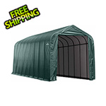 ShelterLogic 16x40x16 ShelterCoat Peak Style Shelter (Green Cover)